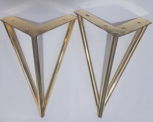 پابه مبل فلزی مدل سه پر ساده و قوطی در 3 رنگ طلایی نقره ای و مشکی