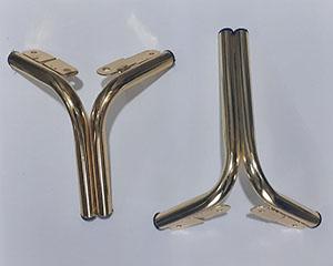 پایه مبل فلزی مدل دوبل طلایی 14سانت و18سانت