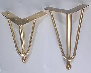پایه مبل فلزی مدل سه پر خم در سه سایز 15 17 20 سانت