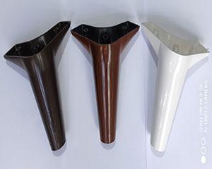 پایه مبل مدل فلور 15 سانت در سه رنگ: سفید _ قهوه ای _ طرح چوب